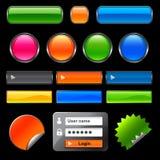 Botones y elementos del Web