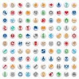 Botones y muestras multicolores