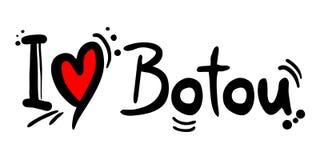 Botou love message Stock Photo