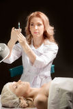 Botox射入 免版税库存图片