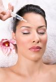 Botox. Beauty treatment with botox injection royalty free stock image