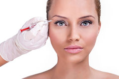 Botox correction upper lids Stock Photo