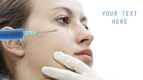 Botox - cosmetic  injection Stock Photography