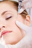 Botox de la cara Fotografía de archivo libre de regalías