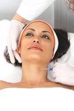 Botox do pescoço foto de stock royalty free