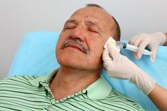 Botox Einspritzung Lizenzfreie Stockfotos