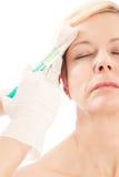 Botox - età e bellezza Fotografie Stock Libere da Diritti