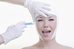 Botox face surgery Stock Photos