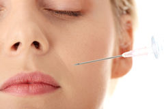 Botox injection Royalty Free Stock Image
