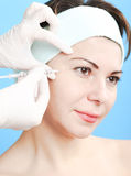 Botox injection Royalty Free Stock Photos