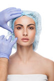 Botox injection. Royalty Free Stock Photo