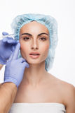 Botox injection. Stock Photos