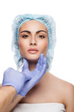 Botox injection. Royalty Free Stock Image