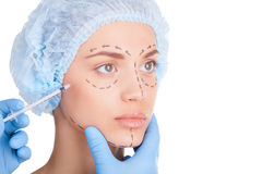 Botox injection. Royalty Free Stock Photos