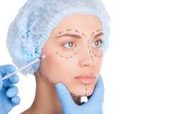 Botox injection. Royalty Free Stock Photos