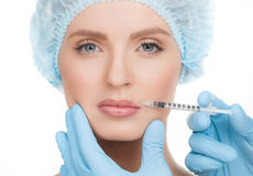 Botox injection. Stock Photo