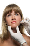 Botox injections Stock Photos