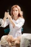 Botox injektion Royaltyfri Bild