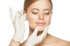 Botox kosmetyczny zastrzyk zdjęcie stock