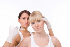 BOTOX® injection Stock Photos
