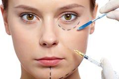 Botox terapia Fotografia Stock