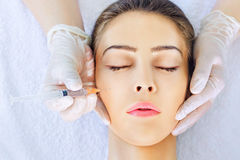 Botox treatment Stock Images