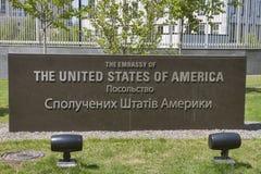 Botschaft der Vereinigten Staaten von Amerika in Kiew stockbilder