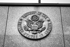 Botschaft von Brett Staaten von Amerika Stockfotos