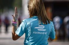 Botschafter der Formel-E 2015/2016 Stockfotografie