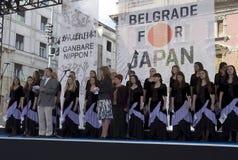 Botschafter von Japan in Belgrad Tosio Cunozaki Stockbild