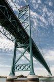 Botschafterbrücke Windsor Ontario Lizenzfreies Stockfoto