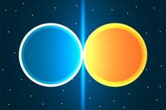Botsing van twee planeten Planeet en de ruimte Avontuur bij heelal Duif als symbool van liefde, pease vector illustratie