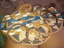 Botswana& x27;s创造性篮子编织法天分 免版税库存照片