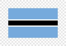 Botswana - bandera nacional stock de ilustración