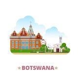 Botswana country design template Flat cartoon styl Stock Images