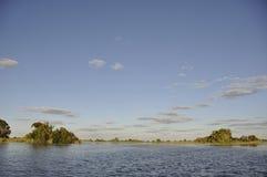 Botswana: Cruise through the Okavango-Delta swamps royalty free stock image