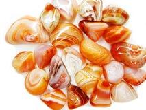 Botswana czerwonego agata semigem kopalin kryształów geological collecti Zdjęcia Stock
