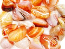 Botswana czerwonego agata semigem kopalin kryształów geological collecti Zdjęcie Stock