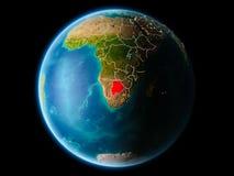 Botswana in de avond Stock Foto