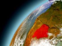 Botswana de la órbita de Earth modelo Fotografía de archivo
