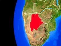 Botswana del espacio stock de ilustración