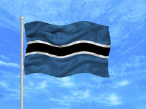 Botswana Flag 1 Royalty Free Stock Image
