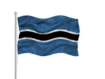 Botswana Flag 2 Stock Photo