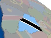 Botswana with flag Royalty Free Stock Image