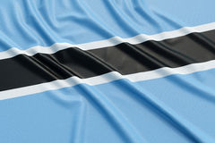 Botswana flag Royalty Free Stock Photography