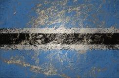 Botswana flaga na kamiennym tle zdjęcie royalty free