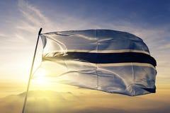 Botswana flaga państowowa tkaniny tekstylny sukienny falowanie na wierzchołku ilustracji