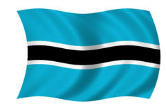 botswana flagga vektor illustrationer