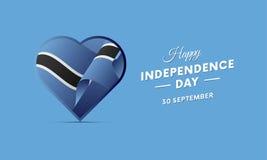 Botswana Independence Day. 30 September. Waving flag in heart. Vector illustration. Botswana Independence Day. 30 September. Waving flag in heart. Vector Royalty Free Stock Photo