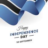 Botswana Independence Day. 30 September. Waving flag. Vector illustration. Botswana Independence Day. 30 September. Waving flag. Vector Stock Images